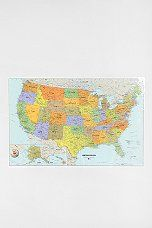 Dry Erase USA Map