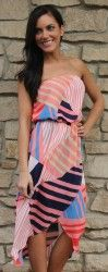 Re-stock- Abstract Chiffon Dress - Dottie Couture Boutique