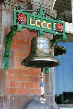 The bell at Old Trafford, a football stadium in Old Trafford, Greater Manchester, England, and the home of Manchester United F.C.