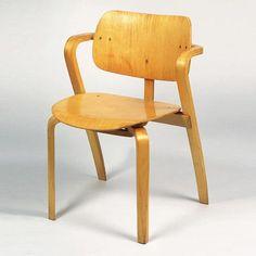 Ilmari Tapiovaara; Moulded Laminate Wood 'Alak' Chair for Asko Tehtaat Oy, 1959.