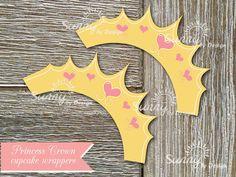 Princess crown (immediate download) printable cupcake wrappers