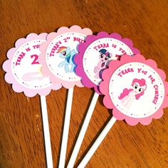 15 piece My Little Pony Cupcake Toppers w/ Stick