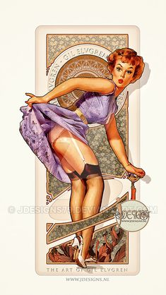 Gil Elvgren Tribute II Art Nouveau Sexy Pin up by jdesigns79 on DeviantArt