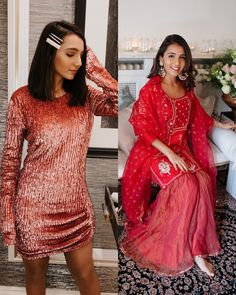 What does your wardrobe have more of, western or Indian looks? 💛 Engagement Dress For Female, Indian Engagement Dress, Engagement Dresses, Indian Look, Bridesmaid Outfit, Wedding Tips, Diva, Bollywood, Sari