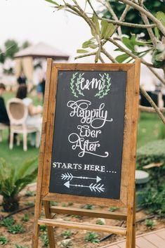 Chalkboard Wedding Signs - An Intimate Ritz Carlton Dubai Wedding