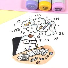 Drawing Hand Left 43 Ideas For 2019 Copic Drawings, Kawaii Drawings, Easy Drawings, Mini Doodle, Doodle Art, Note Doodles, Kawaii Illustration, Little Doodles, Kawaii Doodles
