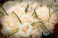 Simple Compact Vendela Roses and Diamonte from Rose and Co