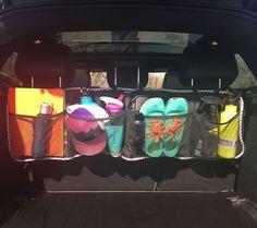 TE hot Car Ceiling Storage Net Pocket Universal Car Interior Cargo Net Organizer with Zipper Sundries Storage Bag