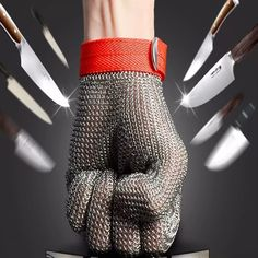 Wholesale Welding stainless level 5 cut proof metal mittens both hand can use butcher glove lobster glove sewing glove. Arm Workout With Bands, Band Workouts, Workplace Safety, Stainless Steel Wire, Mittens, Gloves, How To Wear, Level 5, Ebay