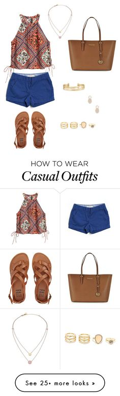 """Trendy casual"" by h-lovering on Polyvore featuring J.Crew, Billabong, Michael Kors, Stella & Dot, LULUS and Sole Society"