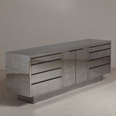A Paul Evans designed Chrome Plated Steel Sideboard ca 1975