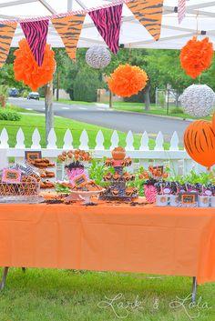 Tiger Themed Birthday Party via Lark & Lola