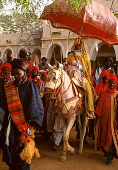 "Africa | The Emir of Katsina at Sallah Ceremony. 1996, Nigeria. | ©Carol Beckwith & Angela Fisher. Publication ""African Ceremonies"""