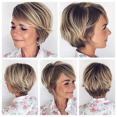 100 Mind-Blowing Short Hairstyles for Fine Hair Cute Feathered Bronde Pixie Bob . Cute Short Haircuts, Haircuts For Fine Hair, Short Hairstyles For Women, Cut Hairstyles, Layered Haircuts, Long Pixie Hairstyles, Short Haircut Styles, Hairstyles Pictures, Party Hairstyles
