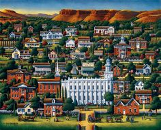 St. George by Eric Dowdle - St. George, Utah almost perfect...just needs Best Western Coral Hills on it.