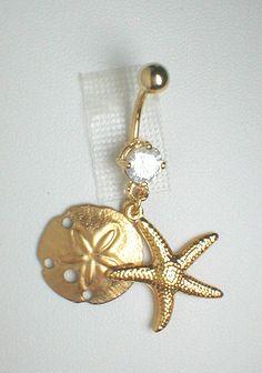 Unique Belly Ring  GP Seashells by pondgazer2004 on Etsy, $10.95