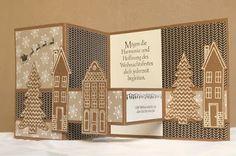 Kerstin's kleine Bastelwelt: Weihnachtsdorf, SU Holiday Home, SU Aus dem Häuschen, Double Z Fold Card