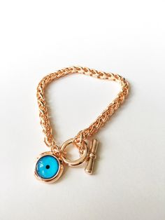 Evil Eye Jewelry, Evil Eye Bracelet, Cute Jewelry, Gold Jewelry, Jewellery, Diy Jewelry, Jewelry Rings, Jewelry Making, Rose Gold Chain