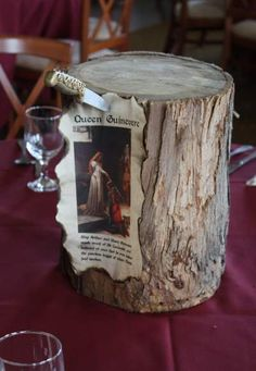 Renaissance centerpieces, with an how-to on how to make a plain old knife look like it came out of the Renaissance period