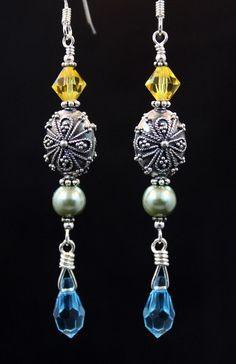 Swarovski, pearls & sterling.