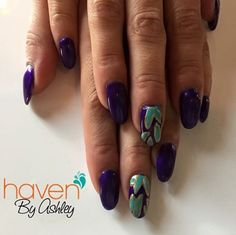 Jewel tones and pretty designs. Nails done at HAVEN in Denver, CO