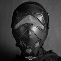 Fencer black leather mask by LahmatTea on DeviantArt Black Plague Doctor Mask, Steampunk Gas Mask, Modern Day Witch, Posture Collar, Knights Helmet, Leather Mask, Fashion Mask, Character Outfits, Leather Fashion