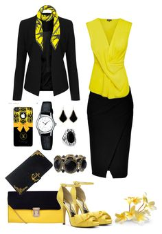 Imperial Bee by danewhite on Polyvore featuring polyvore, fashion, style, Topshop, Donna Karan, Nina, Kendra Scott, Samsung, McQ by Alexander McQueen and clothing