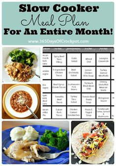365 Days of Slow Cooking: Kitchen Tip Tuesday: Slow Cooker Meal Plan for an Entire Month!