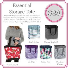 Thirty One Essential Storage Tote Fall Winter 2017