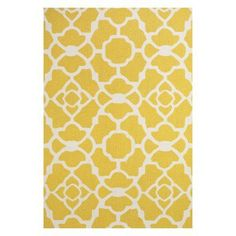 Room Envy Apricity Indoor Area Rug Yellow/White - 589R4106YELWHTF50
