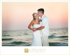 Hyatt Regency Clearwater Beach, Bride, Groom, Sunset, Water, Wedding Photography, Limelight Photography, www.stepintothelimelight.com