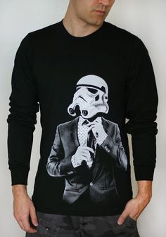Storm trooper Smart Trooper - Mens / Unisex Long Sleeve t-shirt ( Star Wars long sleeve t shirt ) via Etsy