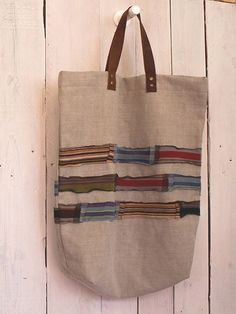 Linen heart tote bag with appliqué, Sashiko Hand embroidered tote, Valentine tote bag, mother's day - Jute Tote Bags, Diy Tote Bag, Reusable Tote Bags, Fabric Bags, Fabric Scraps, Eco Bags, Sack Bag, Creation Couture, Hand Applique