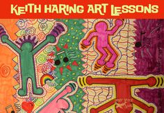 Keith-Haring-Art-Lesson--also interesting for the conversations about the 'adult side' to Haring's work.