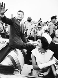 President John Fitzgerald Kennedy and First Lady Jacqueline Bouvier Kennedy