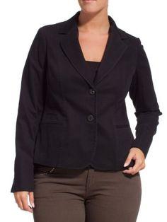 Giacca blazer in twill di cotone stretch con collo rever, chiusura a due bottoni, tre finte tasche a filetto davanti (una più laterale), spacchi a fondo manica per risvolto, linea sciancrata. All'interno, all'altezza collo, la giacca dispone di un profilo stampato a righe e di un ciondolo in metallo. Vestibilità slim. E' un capo perfetto per l'inizio stagione, e può essere abbinato ad un look da tempo libero.