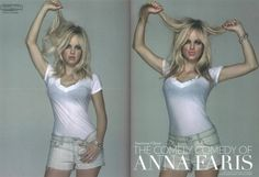 Anna Farris in J Brand cut off shorts in Polar wash.  Available  now at www.shopvoce.com !