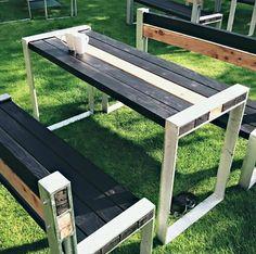 Shou-sugi-ban inspired outdoor furniture blending old skills and new.  #rootsfurniture #apexhotelandspa #outdoorfurniture #shousugiban #contrast #larch #industrial