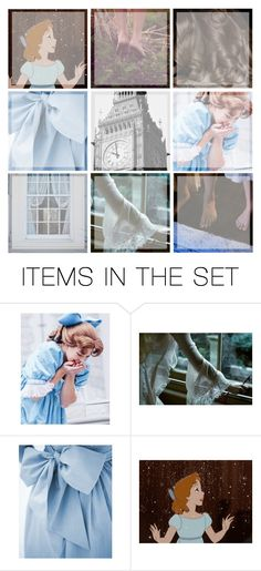 """Wendy Darling Mood Board"" by thesecretfightersoffashion ❤ liked on Polyvore featuring art"