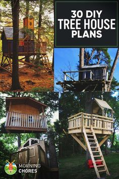 30 Free DIY Tree House Plans to Make Your Childhood (or Adulthood) Dream a…