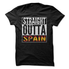 Straight Outta Spain T Shirts, Hoodies. Get it here ==► https://www.sunfrog.com/Movies/Straight-Outta-Spain-Shirt.html?57074 $19