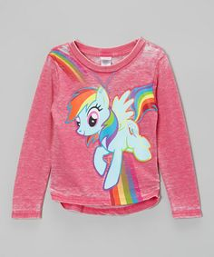 Take a look at this Cerise Rainbow Dash Hi-Low Top - Girls by My Little Pony on #zulily today!