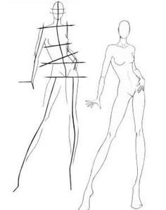 how to draw a fashoin model(: