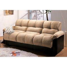 Milton Green London Storage Futon Sofa Bed with Champion Fabric Beige - 7538BG
