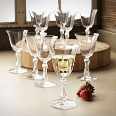 Vintage Saint Louis Crystal Fluted Wine Glasses Set of 10 from Sur La Table on Catalog Spree, my personal digital mall.