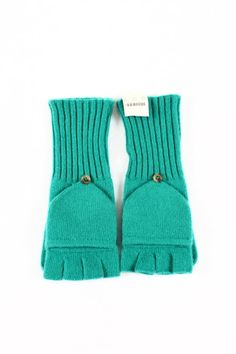 J. Crew Kelly Green Fingerless Gloves - $20