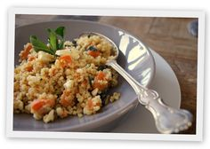 Kaat's Keuken: Bulgur-quinoasalade met zoete aardappel, feta en munt