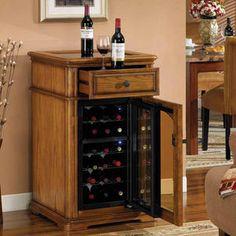 Tresanti bordeaux 18 bottle wine cooler with Wooden Wine Cabinet, Wooden Kitchen, Bottle Rack, Wine Bottle Holders, Wine Refrigerator, Wine Fridge, Make Your Own Wine, Wine House, Bordeaux Wine