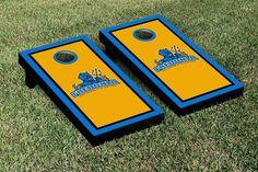 State University of New York, Fredonia Blue Devils Framed Border Cornhole Toss Game