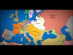 Map of Europe - 1000 AD to Present day